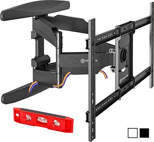 Flat Panel Dual Swing - ONKRON TV Wall Mount Articulating Heavy Duty Bracket 42 to 70 Inch LCD LED Flat Screen TVs Black (M6L)