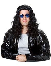 Costume Culture 80's Dj Wig, Black, One Size
