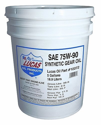 Lucas Oil 10072 SAE 75W-90 Synthetic Transmission and Differential Lube - 5 Gallon Pail by Lucas Oil