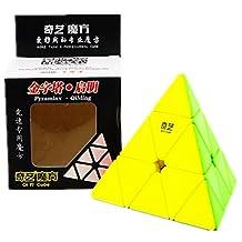 CuberSpeed QiYi QiMing Pyraminx Stickerless Magic Cube Mo Fang Ge QiMing Pyraminx Stickerless Speed cube