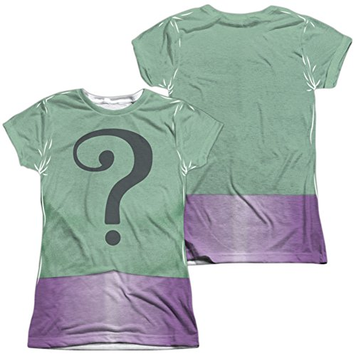 Classic Bane Costumes (Juniors: Batman Classic TV- Riddler Uniform Costume Tee (Front/Back) Juniors (Slim) T-Shirt Size XL)