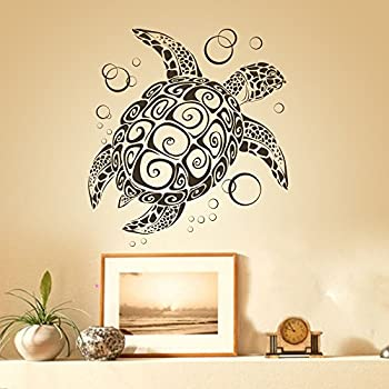 Amazon.com: Sea Turtle Ocean Wall Decal Turtle Wall Sticker Under ...