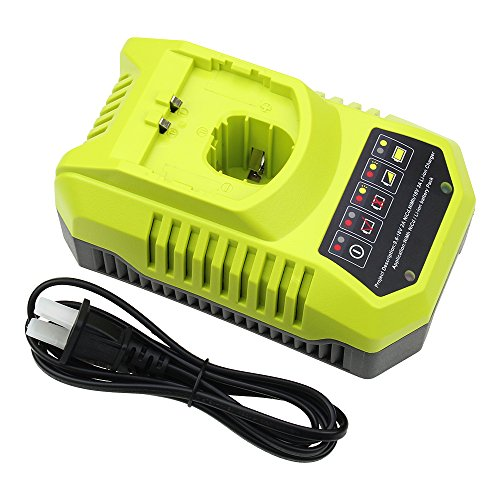 Replace Ryobi Battery Charger 9.6v-18v Replace P102 P105 P107 P117 One+ Dual Chemistry IntelliPort Lithium Ion and NiCad by SUN POWER