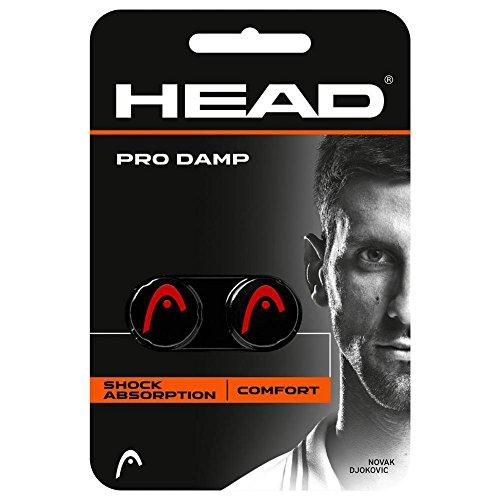 HEAD Pro Damp - Tennis Racquet Vibration Dampeners (Black/Red) (Best Tennis Racquet Dampener)