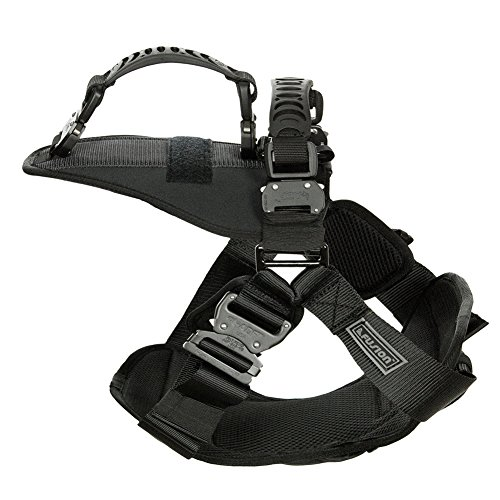 Fusion Pets Trekker Adjustable Military Tactical Police K9 Ergonomic Dual Handle Dog Harness Hunting Guard Canine Large Black by Fusion Pets