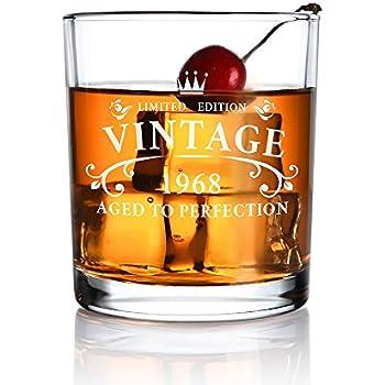 Amazon.com   Whiskey Glass 50th Birthday Vintage 1968 Aged