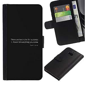 Stuss Case / Funda Carcasa PU de Cuero - Reglas del éxito - HTC One M8