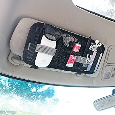 YIER Car Sun Visor Organizer Card Storage and Electronic Accessory Holder …