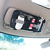 YIER Car Sun Visor Organizer Card Storage and Electronic Accessory Holder
