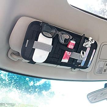Amazon.com: GOOACC Anti-slip Car Sun Visor Organizer and Storage ...