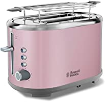 Russell Hobbs 25081-56 Toaster Grille Pain Bubble Fentes XL, Cuisson Ajustable - Rose