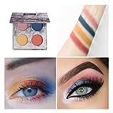 Jinjin 4PC Waterproof Eye Shadow Set,Matte Shimmer Velvet Texture Blendable Long Lasting Eyeshadow (B)