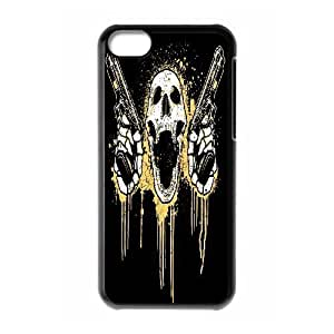 LJF phone case C-Y-F-CASE DIY Horror Skull Pattern Phone Case For phone ipod touch 5