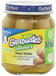 Gerber Graduates Lil' Sticks Meat, 2.5-Ounce Jars (Pack of 12)