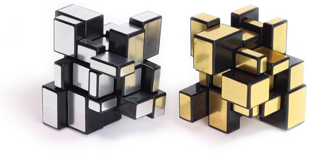 Playwin ® 3x3x3 Mirror Speed Cube Puzzle Gold & Silver Collection