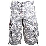 Molecule Men's Dockside Cargo Shorts - 100% Cotton Backpackers Bermudas Combats | USA 31''/S (Tag S) Univ Camo