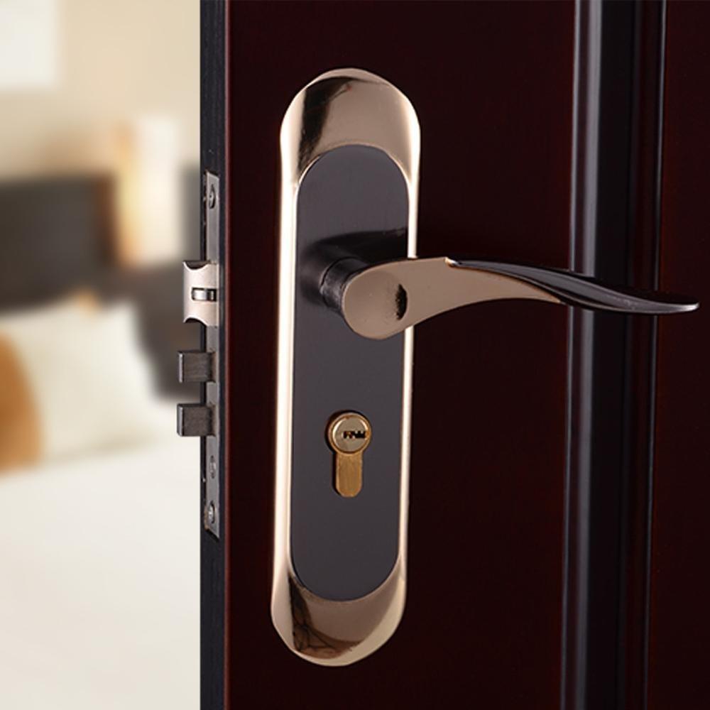 Daeou Aluminum interior door locks indoor wooden door lock simple door handle handle lock hardware locks by Daeou (Image #3)
