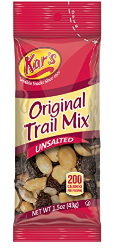 Kar's Original Trail Mix 1.5 oz Single Serving Bags - An Unsalted Blend of Peanuts, Raisins, Almonds and Sunflower Kernels (72 ()