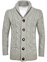 "<span class=""a-offscreen"">[Sponsored]</span>Men's Shawl Collar Cardigan Sweater Button Front Solid Knitwear"