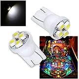 PA 10PCS #555 T10 4SMD LED Pinball Machine Light Bulb White-6.3V