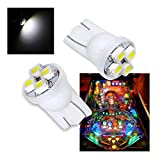 PA® 10PCS #555 T10 4SMD LED Pinball Machine Light Bulb White-6.3V