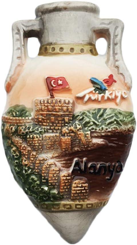 3D Rudder Alanya Turquie R/éfrig/érateur R/éfrig/érateur Aimant Touristique Souvenirs /À La Main C/éramique Artisan Magn/étique Autocollants Maison Cuisine D/écoration Voyage Cadeau
