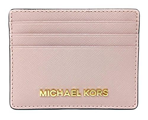 24dc99aba992 Michael Kors Jet Set Travel Large Saffiano Leather Card Holder (Blossom) by Michael  Kors