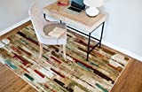 Cheap Mohawk Home Strata Facets Abstract Printed Area Rug, 7'6×10′, Multicolor