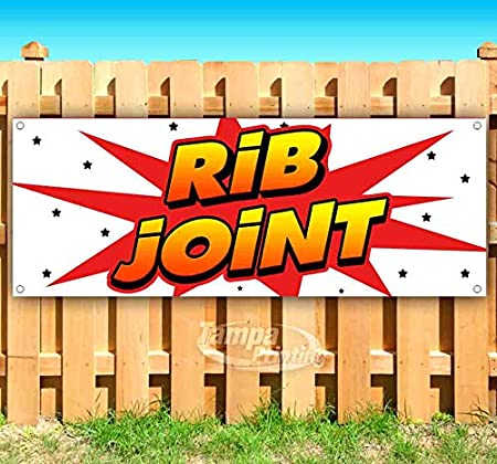 Advertising Flag, Store Rib Joint 13 oz Heavy Duty Vinyl Banner Sign with Metal Grommets Many Sizes Available New