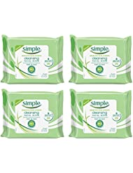 Simple Kind to Skin Facial Wipes, Cleansing 25 wipes, 4 count