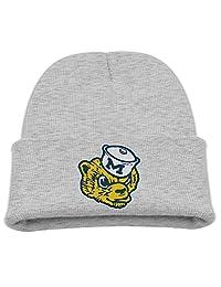 Skull Beanie Caps University of Michigan Vault Wolverine Trendy Soft Boys/Girls