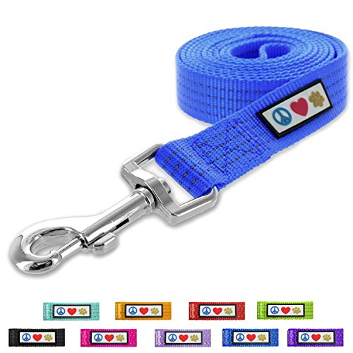 Pawtitas Pet / Puppy 6 - feet Reflective Dog Leash Extra Small / Small 5/8 inch Blue Matching Collar and Harness sold separately.