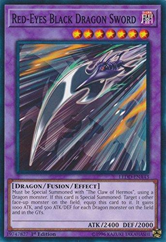 Red-Eyes Black Dragon Sword - LEDD-ENA43 - Common - 1st Edition - Legendary Dragon Decks (1st Edition)