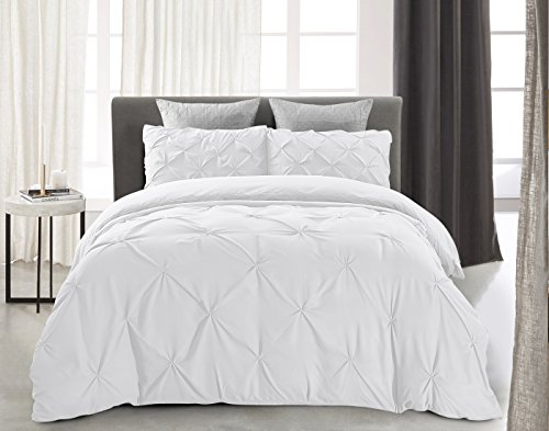 Word of Dream Pinch Pleat Microfiber Duvet Cover Set 3 PC, K