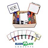 Kleenslate 5002 Rectangular Graph Dry Erase Paddle with Markers, 12-1/2'' x 10'' Size, Assorted Colors, 14'' Height, 14'' Width, 23'' Length (Pack of 32)