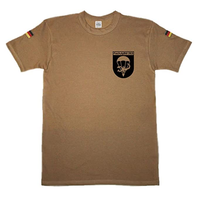 noorsk - fschjgbtl 263 Paracaidista Batallón Paracaidista Springer Caso pantalla escudo Camisa de buceo: Amazon.es: Ropa y accesorios