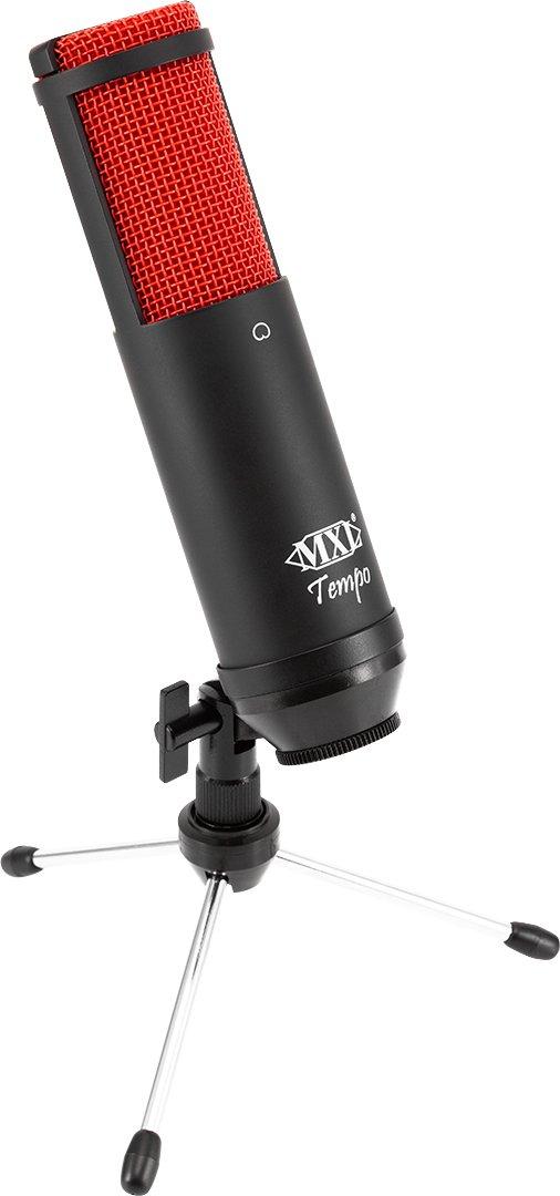 MXL TEMPO KR USB Condenser Microphone, Cardioid (Red/Black) Marshall Electronics MXL-TEMPO-KR MXLTEMPOKR