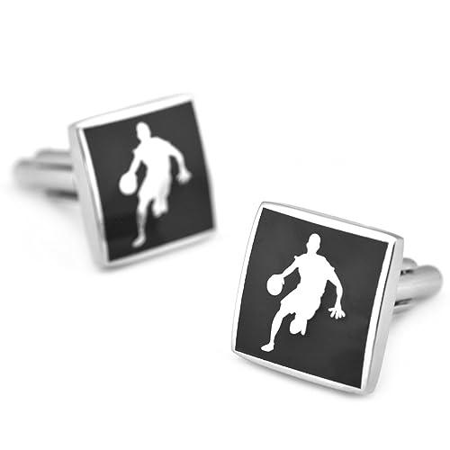 Sirius joyas hombre NBA Jugador de baloncesto Símbolo cuadrado Gemelos: Amazon.es: Joyería
