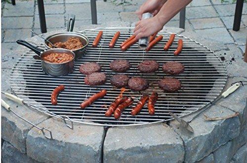 Amazon.com: onlyfire BBQ Solid Rod plegable Parrillas de ...