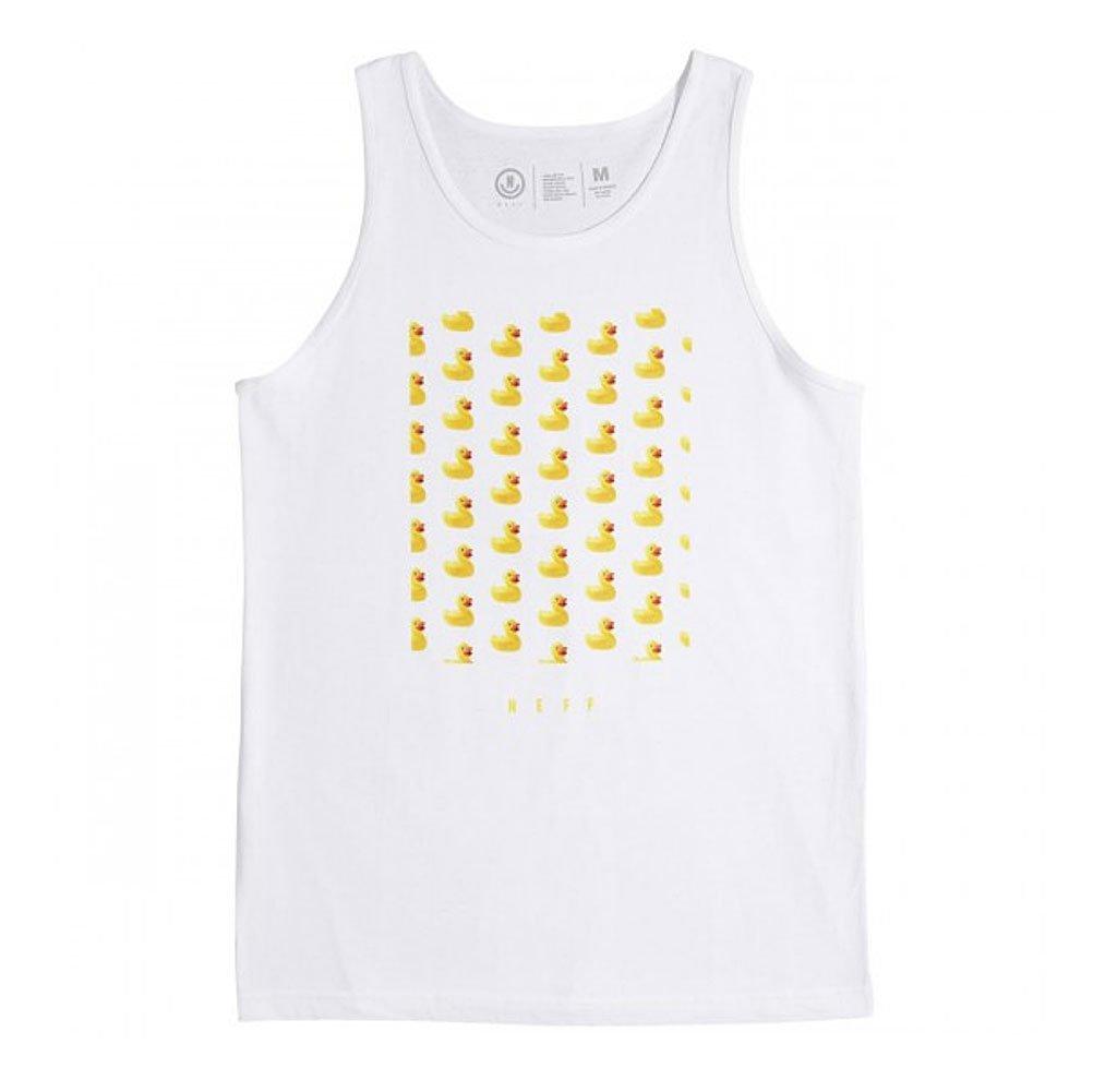 NEFF Men's Ducky Tank Top-Summer Shirts Women, White, XL