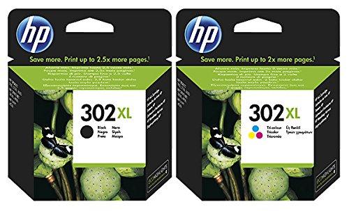 Original HP ink cartridge F6U66AE F6U67AE HP 302HP302for HP Envy 4520 Black + Colour