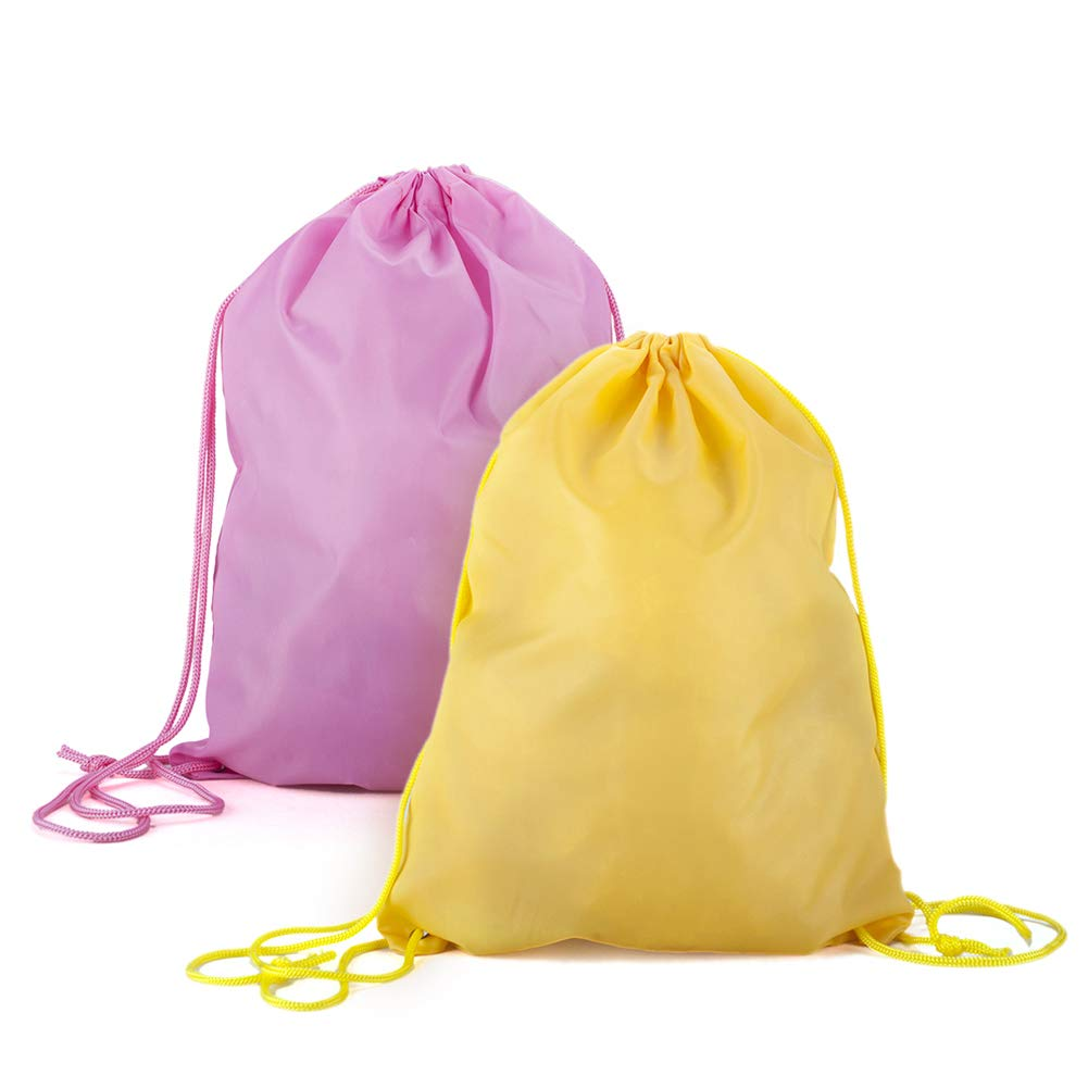 (Price/10PCS) GOGO Drawstring Backpack Goodie Bags Gym Sack For Birthday Party Favor Giveaways