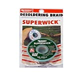 "MG Chemicals Desoldering Braid #3 Fine Braid Super Wick for Lead Free Solder, 0.075"" Width x 5' Length"