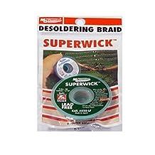 "MG Chemicals Desoldering Braid #3 Fine Braid Super Wick for Lead Free Solder, 0.075"" Width x 5' Length"
