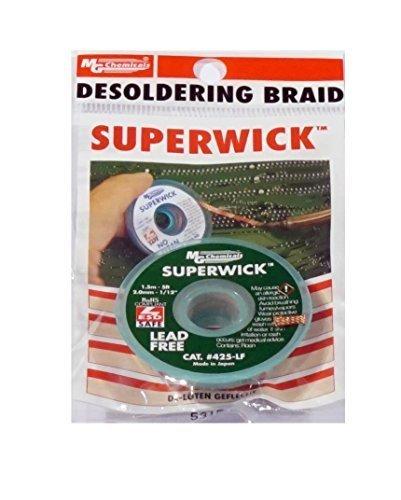 MG Chemicals Desoldering Braid #3 Fine Braid Super Wick for Lead Free Solder, 0.075' Width x 5' Length 0.075 Width x 5' Length M.G. Chemicals Ltd 425-LF
