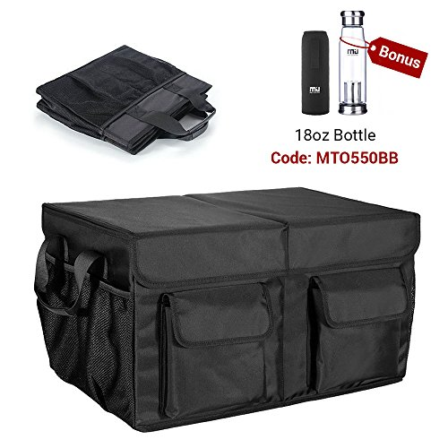 Foldable Cargo Trunk Organizer with Durable Cover Washable Storage with Reinforced Handles - Bonus Car Cooler - by MIU - Miu Brand Miu