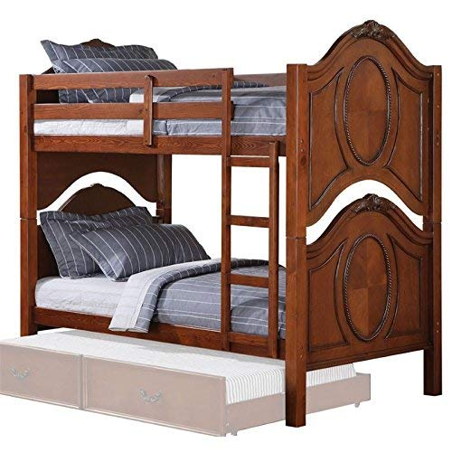 ACME 37005 Classique Twin/Twin Bunk Bed, Cherry Finish For Sale