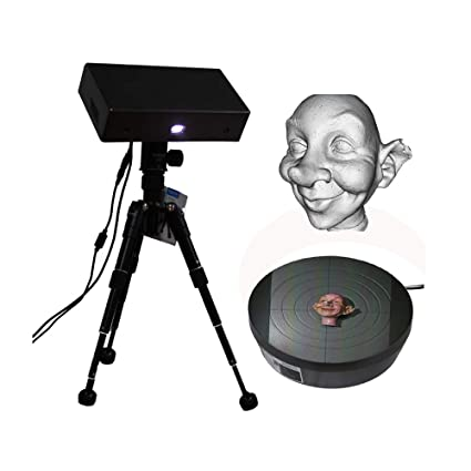 Thunk3D Cooper Desktop 3D Scanner with Auto Turntable Rotating Turntable  High Precision to 0 04mm Professional 3D Scanner for Small Objects  Affordable