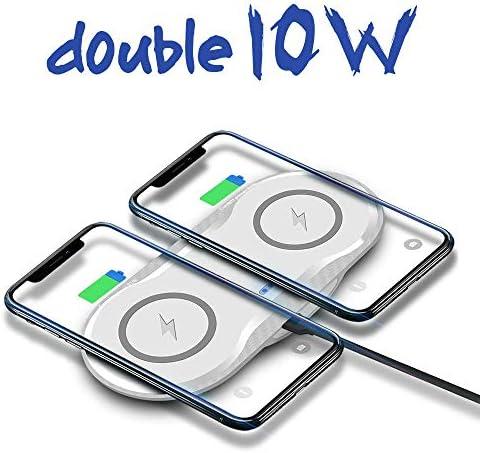 IPhone 11/11のPro / X/のX最大/XR / 8プラス/サムスンS10 / S10 + / S9 / S9 + / S8 + /注9、より互換性パッド電話の充電器を、充電デュアルワイヤレス充電器、10W高速ワイヤレス,白