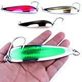 A-szcxtop 142g Large Fishing Lures Metal Casting Trolling Jigging Spoon for Trout Salmon Walleye Sea Bass Freshwater Saltwater Fishing Spoons Hooks